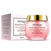 BioAqua Ночная увлажняющая маска для лица с лепестками роз, 120 г + ПОДАРОК маска для лица