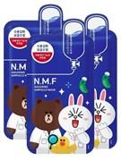 Mediheal Набор из 3-х тканевых масок для сухой и обезвоженной кожи лица N.M.F Aquaring Ampoule Mask, 3 шт * 27 ml + ПОДАРОК