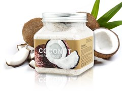 Wokali Скраб для тела с Кокосом Coconut Sherbet Body Scrub, 350 ml + ПОДАРОК скраб для лица