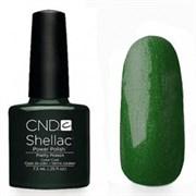Шеллак CND Shellac (#40547) Pretty Poison 7.3 ml. Тёмно-зелёный с микроблеском