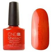 Шеллак CND Shellac (#90624) Fine Vermilion 7.3 ml. Рыжий с микроблеском